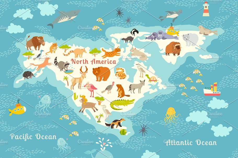 Animals world map, North America on map south america, map of alaska, map of the usa states, map of asia, map of the dominican republic, map of the wisconsin, map of the world, map of the united states, map of europe, map of the canadian shield, map of the oceania, map of china, map of canada, map of the russia, map of the earth, map of the antarctica, map of the india, map of the mexico, map of the andean region, map of the jamaica,