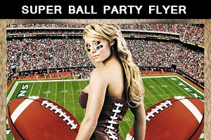 Super Ball Party Flyer