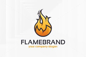 Flame Brand Logo Template
