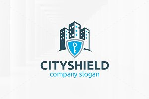 City Shield Logo Template