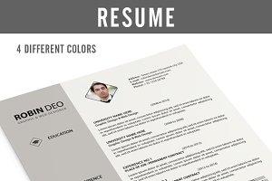 Resume (PSD & Ms Word)