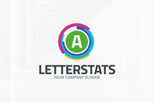Letter Stats Logo Template