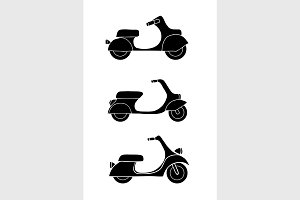 transport icons - scooter and moped