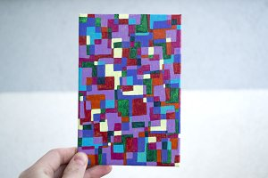 Abstract squares illustration