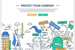 Protect Your Company Website Header