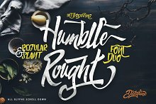 Humblle Rought - Font Duo + Extras