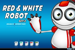 Red And White Robot – Set 2