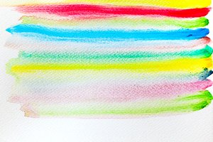 Colorful stripes on canvas.