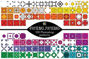 Set 8 - 100 Seamless Patterns