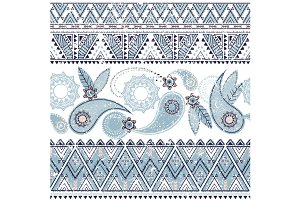 Vintage Ethnic Pattern With Paisley