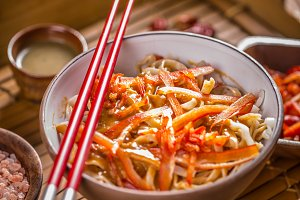 Delicious rice noodles