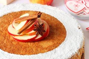 Christmas homemade apple cake