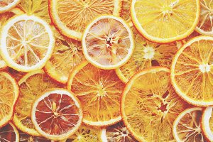 Dried oranges and lemons