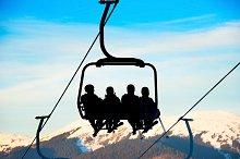 Cableway at ski resort