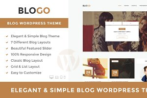 Blogo - Elegat WordPress Blog Theme
