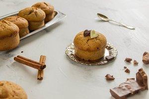 cupcake with chocolate and cinnamon
