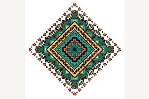 Mandala Square ornament