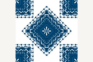 Vector blue pattern