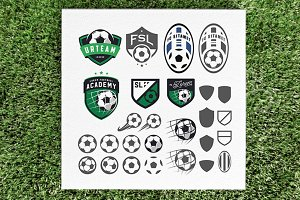 Soccer emblem design elements