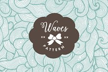 Seamless abstract waves pattern