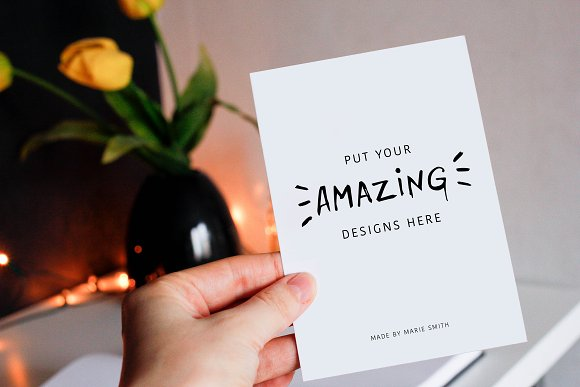 Download 7 Mockups for Postcards & Drawing