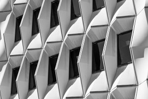 Abstract shapes of a building