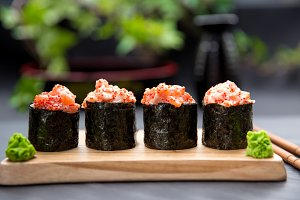Gunkan Traditional Japanese Food