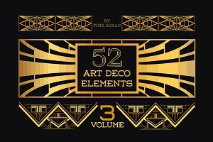52 Art Deco Design Elements Vol.3