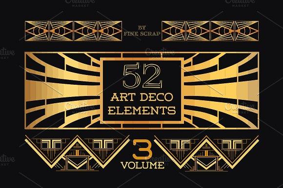 52 Art Deco Design Elements Vol.3 - Illustrations