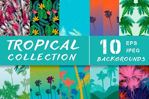 Tropical background collection