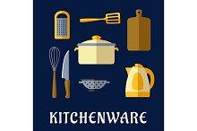 Kitchenware flat icons