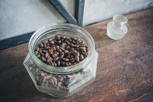 Coffee in Glass Jar