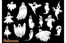 Flying Halloween ghosts