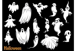 Flying Halloween ghosts