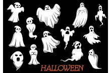 Halloween monsters and ghosts