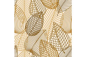 Yellow outline autumn pattern
