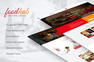 Foodhub - Responsive Restaurant PSD