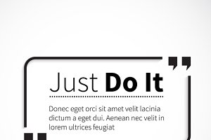 Phrase Just Do It in Quotes