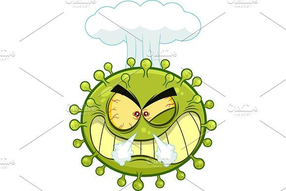 Angry Coronavirus Cartoon Character | Pre-Designed Photoshop Graphics ~  Creative Market