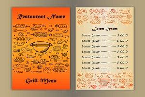 5 Grill Menus + 6 Fliers