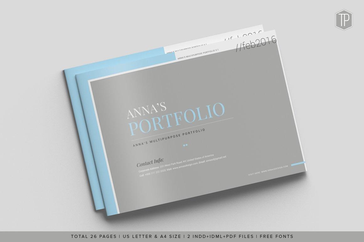 graphic designer portfolio template free download - multipurpose corporate portfolio brochure templates