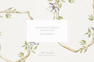 Watercolor Wedding Crests Volume 1