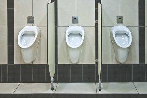 Three Men's toilet