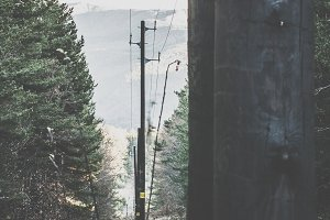 Vintage electric poles