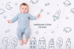 Handdrawn Sticker For Baby