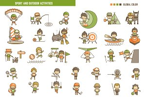 Sport and Activity Kid Characters