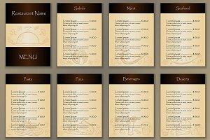 6 Restaurant Menus + 3 Fliers
