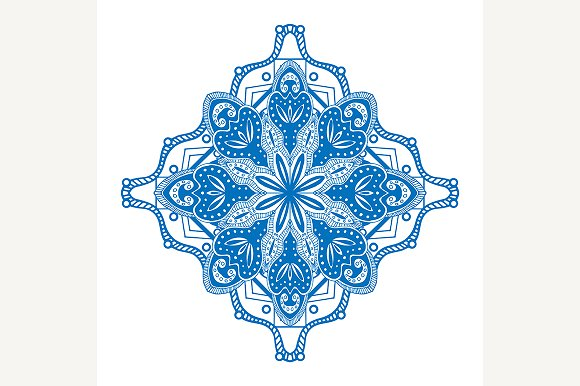Round blue ornament - Patterns