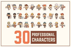 Professional Outline Characters