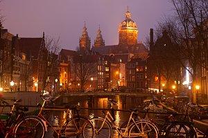 Amsterdam Old Town scene